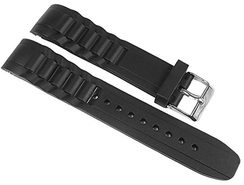Minott Uhrenarmband Silikon schwarz 20mm passend zu Watch