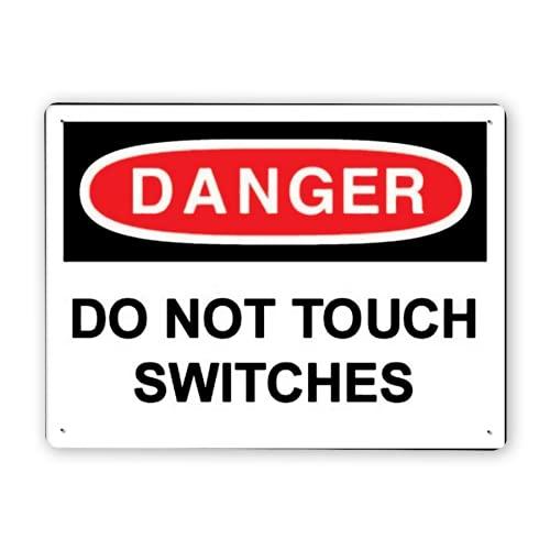 Señal de advertencia, PELIGRO No toque los interruptores, Señal de tráfico Señal de tráfico Señal comercial
