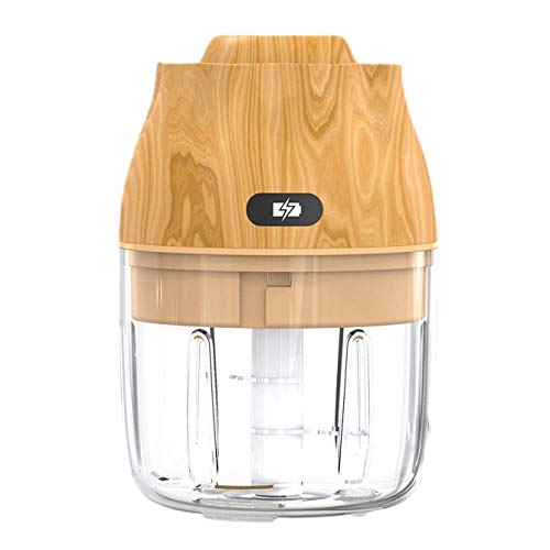 Camisin Electric Garlic Chopper Grinder, Portable Mincer Food Meat Processor Slicer,Chili Nuts Blender Mixer,Yellow