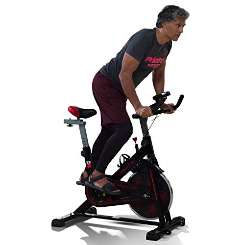 LifelongLLF45 Fit Pro Spin Fitness Bike with 6Kg Flywheel, Adjustable Resistance and heart...