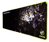 CROW Alfombrilla para Raton Gaming Model Cryzal Microtejido Impermeable y optimizado para Mayor precisión - Borde Reforzado - Medidas 800X300mm