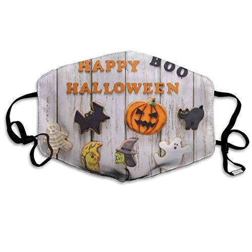 Cookies Happy Boo Halloween Waschbare Wiederverwendbare Sicherheits, Anti-mit verstellbaren Ohrschlaufen FHK-3032