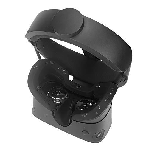 Carplink Silikon VR Maske für Oculus Rift S PC-Powered VR Gaming Headset Schutzhülle Hygiene Gesichtsmaske VR Masken VR Face Cover Schwarz