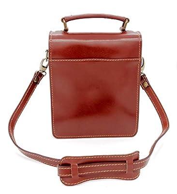 Charmoni® - Gabrielle - sac pochette sacoche à bandoulière - femme ou homme - Porté Épaule ou à travers - cuir vachette véritable