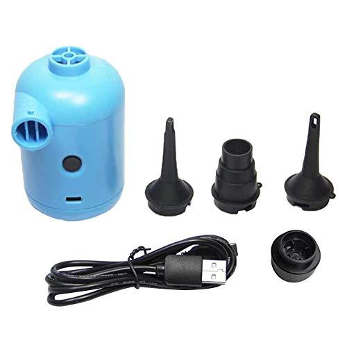 JZUO Inflador de Bomba de Aire eléctrico portátil Alimentado por USB para colchón de Cama de Aire Artesanal