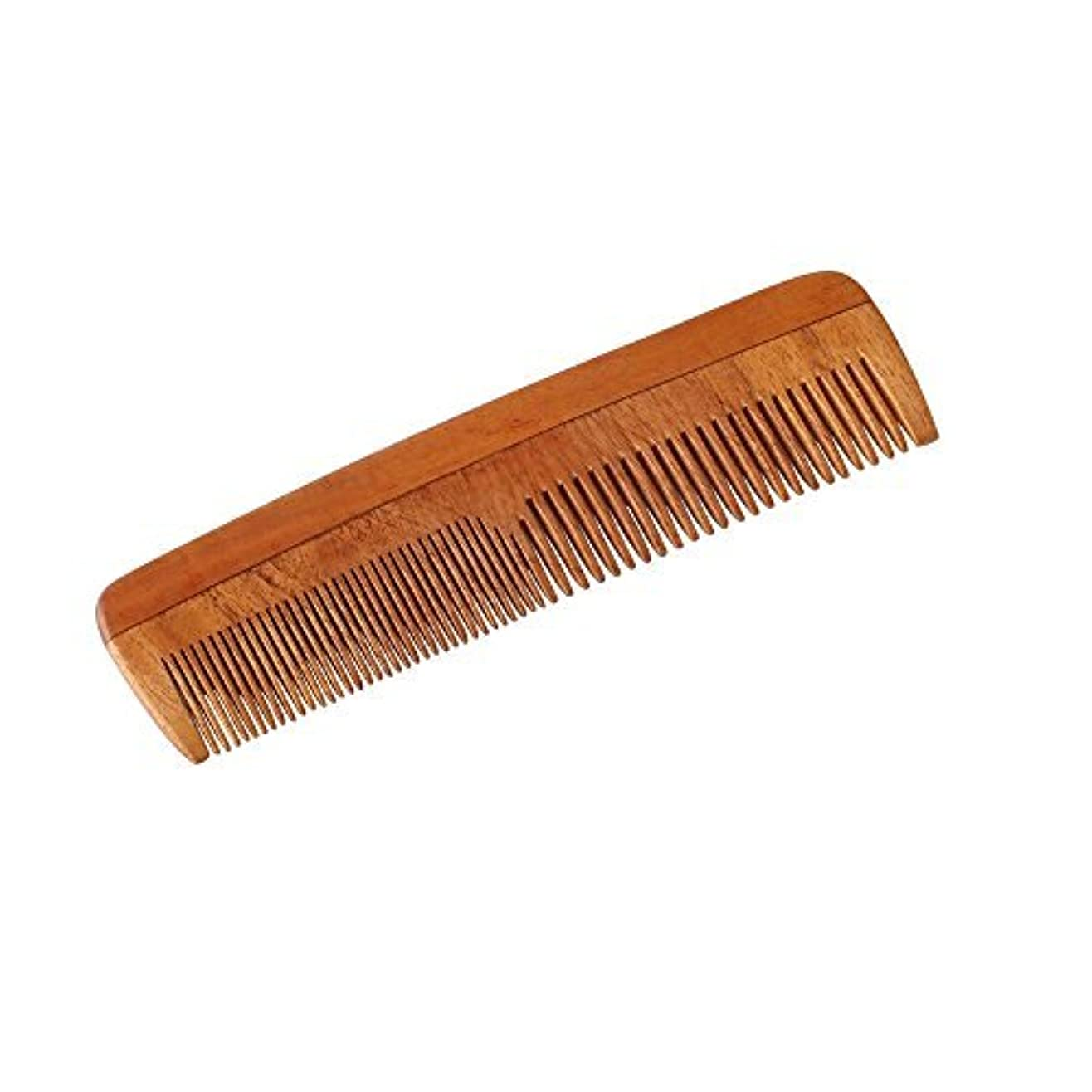 調停する毎週黒人HealthAndYoga(TM) Handcrafted Neem Wood Comb - Non-Static and Eco-Friendly- Great for Scalp and Hair Health -7