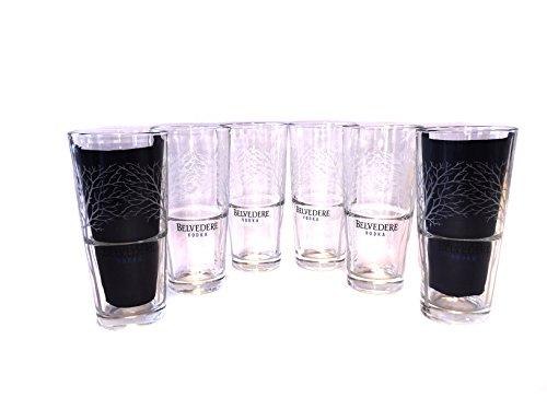 Belvedere 6 Vodka Wodka Longdrink Gläser Glas