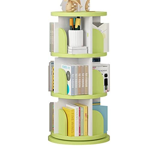 Serre-livres 360 ° Tour Rotate Bookshelf, Boîte de Rangement de Table de Bureau, bibliothèque d'enfants,...