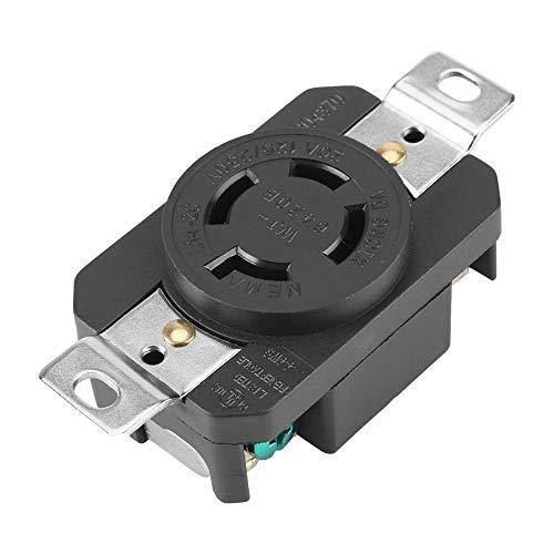 Nema L14-20R, stopcontact met 3-polige 4-draads aardingsbus, ideaal voor aansluiting op een generator met een 125-250V-volt-stopcontact