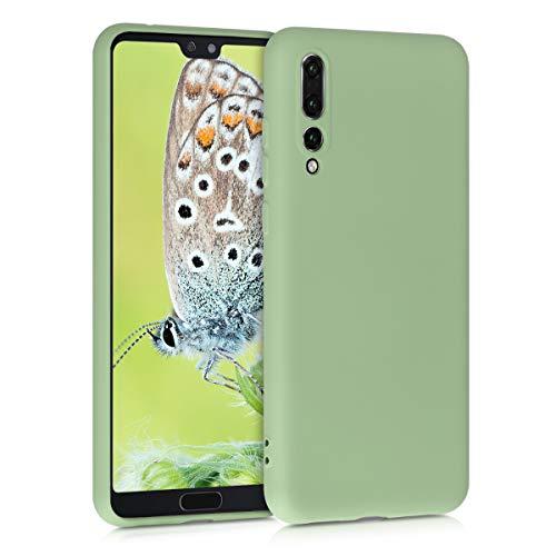 kwmobile Coque Compatible avec Huawei P20 Pro - Housse de téléphone Protection Souple et Fine en TPU Silicone - Vert Matcha