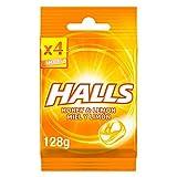 Halls Caramelos Duros Sabor Miel y Limón, 4 x 32g