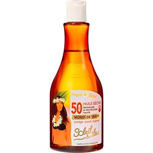 Soleil des îles - Huile sèche au monoï de Tahiti SPF 50 - 150 ml