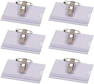 spilla e clip a coccodrillo 40x57 mm trasparente Portanome con combi clip DURABLE 869419 confezione da 5 pezzi
