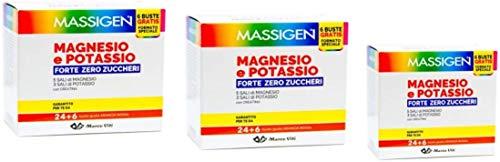 Massigen, Magnesio e Potassio Forte, Integratore 24+6 Bustine Gratis (3)