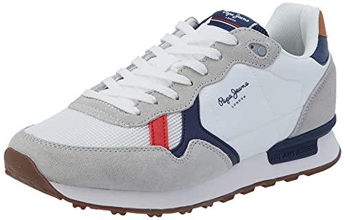 Pepe Jeans Britt Man Basic, Zapatillas Hombre, 800 Blanco, 43 EU