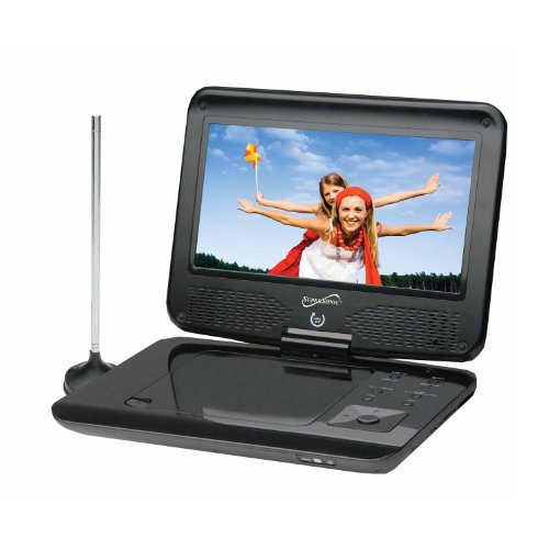 "Supersonic SC-259 9"" TFT Portable DVD/CD/MP3 Player with TV Tuner, USB & SD Card Slot"