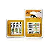 EBL 単4充電池 充電式 ニッケル水素充電池 8本入り 高容量充電池 1100mAhで長持ち 約1200回使用可能 単四充電池 AAA充電池8本パック 防災電池
