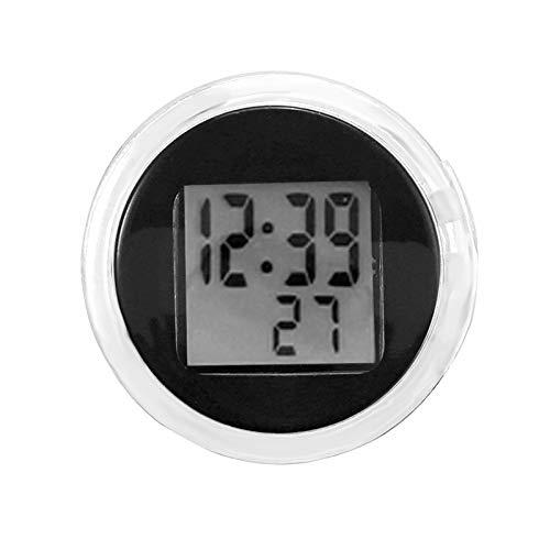 Hangrow Digitaluhr Zifferblatt Mini Uhr, Wasserdicht Stick On Motorrad Digital Uhr Auto Digital Uhr Wandsticker Fahrrad Mini Uhr Schwarz Weiß