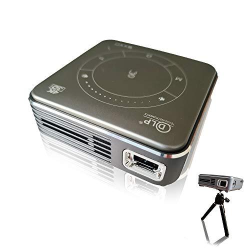 EXXO X2095M 4K Mini Projektor Beamer 3D HD 1080P, Ultra leicht 188g, WiFi & Bluetooth 5 Heimkino, Touchpad, 3D VR & DLP, Multi-Screen, für iPhone & Android Smartphone, USB, HDMI, Akku bis zu 2Std