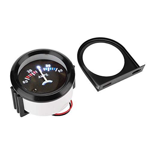 Amperímetro Voltímetro, 12V 2 pulgadas 52mm Coche 60-0-60A Amperímetro Amperímetro Voltímetro Medidor Voltímetro