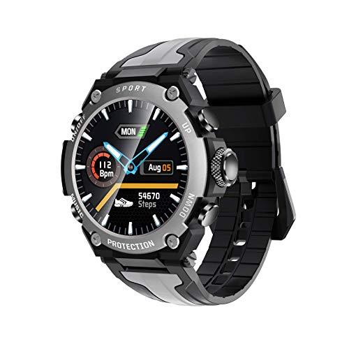 Gymqian Relojes Inteligentes para Hombres, Mujeres, 1.3'Bluetooth Smart Watch, Ip68 Impermeable, Rastreador de Actividades con Monitor Sleep Compass, Reloj Inteligente para Teléfon