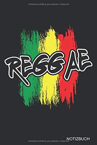 Reggae Farben: NOTIZBUCH / NOTIZHEFT  A5 (6x9 inch) Liniert | für alle Rastfari, Rasta, Hippies, Jamaica, Reggaeton Musik Fans | Coole Geschenkidee
