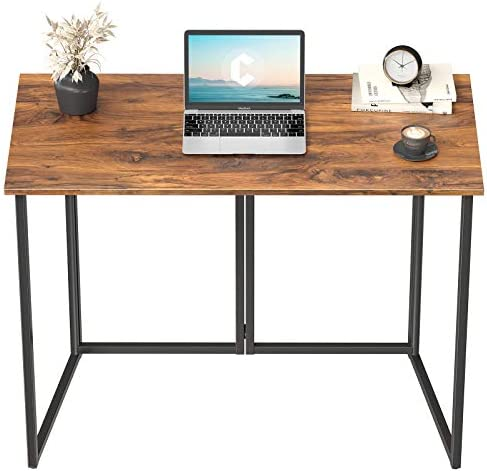Cubiker 40 Folding Computer Desk Small Home Office Laptop Work Desk Study Writing Table No Assembly product image