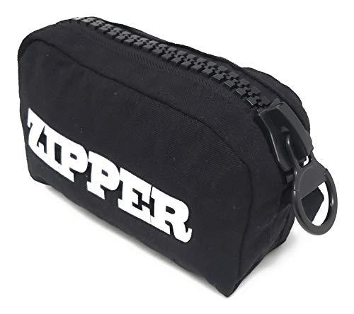 Bolsa de Aseo Mujer Neceser Mujer Moda Zipper Original 15cm x 10 cm x 15 cm (Black Zip)