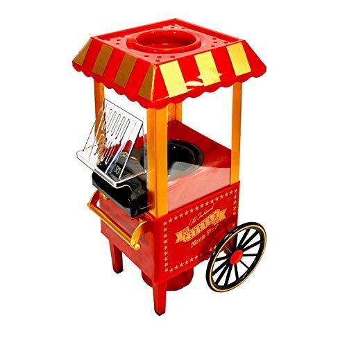Popcornmaschine Popcorn Maschine fur zuhause Popcorn Maker Popcorn-Maschinen Retro-Popcorn-Maschine Heissluft Fettfrei Ölfrei Ohne Fett Party Geschenk