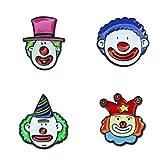 Happyyami 4 Piezas Broche de Circo Pin Payaso Broche Accesorios de Disfraces Regalo de Año Nuevo para Niños