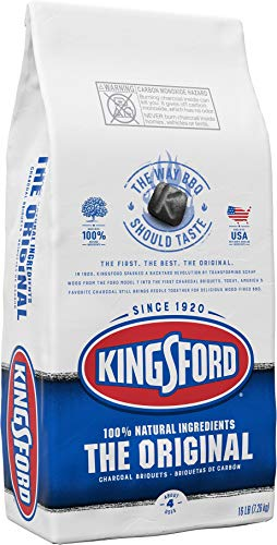 Kingsford Original Charcoal Briquettes, BBQ Charcoal for Grilling 16 Lb (Package May Vary), 16.55 Lb