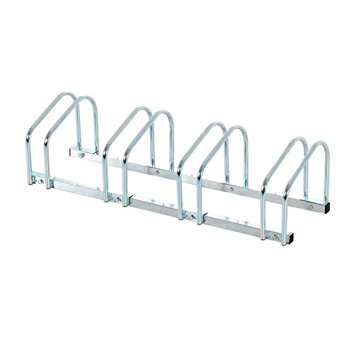 HOMCOM Bike Stand Parking Rack Floor or Wall Mount Bicycle Cycle Storage Locking Stand (4 Racks)