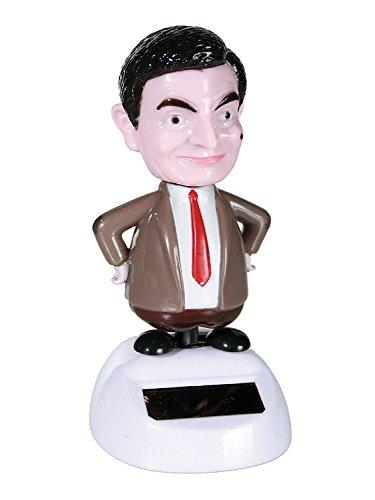 Bewegliche Solar Wackelfigur Mr. Bean bunt 11cm
