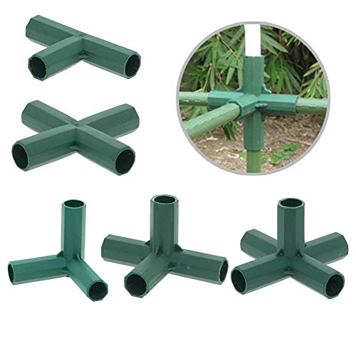 libelyef 16MM PVC Fitting Build Heavy Duty Greenhouse Frame Furniture Connectors, For Furniture Grade,Greenhouse Shed Pipe Fittings And Tent Connection(5 Types)