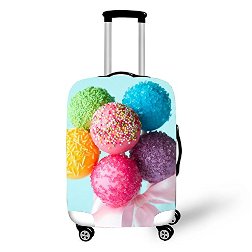 Travelling Luggage Cover Washable Suitcase Protector Anti-scratch Suitcase cover Colorful Luggage suitcase protective cover Fits 18-30 Inch (S...
