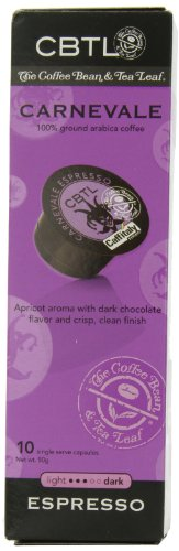 The Coffee Bean & Tea Leaf, Single Origin Carnevale Espresso Capsules for Caffitaly Brewers, 10-Count Pods