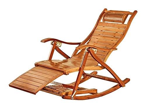 Mecedora de adulto plegable almuerzo descanso fácil silla sala de estar siesta cama casa balcón ocio viejo silla de bambú