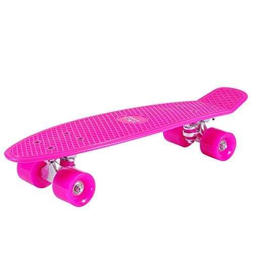 HUDORA Skateboard Retro Pink 57 x 15 cm Komplettboard Surfboard Board Steetsurfer