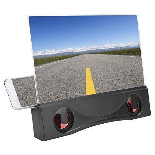 Vbestlife Lupa de Pantalla de teléfono móvil de 12 Pulgadas con Amplificador de Video con Altavoz Bluetooth para teléfono Inteligente Dentro de Pantalla de 6.5 Pulgadas