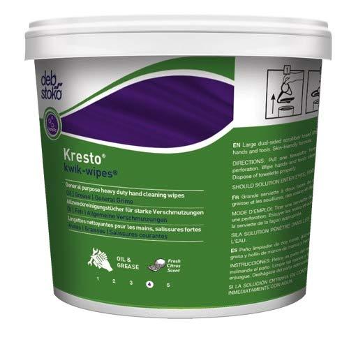 Stoko Kresto Kwik Wipes (130 Ct.) Heavy Duty Hand Cleaning Towels (4/EA Pack)