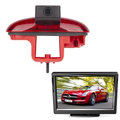 "HD 720p Einparkhilfe Rückfahrkamera integriert in 3. Bremsleuchte Kamera für Opel Vivaro Renault Trafic Combo Primastar Talento 2001-2014 + 4.3\"" Zoll DVD Monitor TFT Bildschirm LKW KFZ LCD Display"