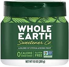 WHOLE EARTH Stevia & Monk Fruit Plant-Based Sweetener, 9.8 Ounce Jar