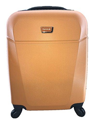 Maleta Equipaje de mano cabina rígida ligera con 4 ruedas, 55cm, TERRAE, color naranja (Orange OG0911)