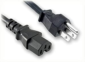 6 ft (1.83m) NEMA 5-15P to IEC-60320-C15 Power Cord - 3 Prong, UL C-UL Approved, 18 AWG, 10A 125Volt North American Plug, Replacement for TV, Computer and Monitor