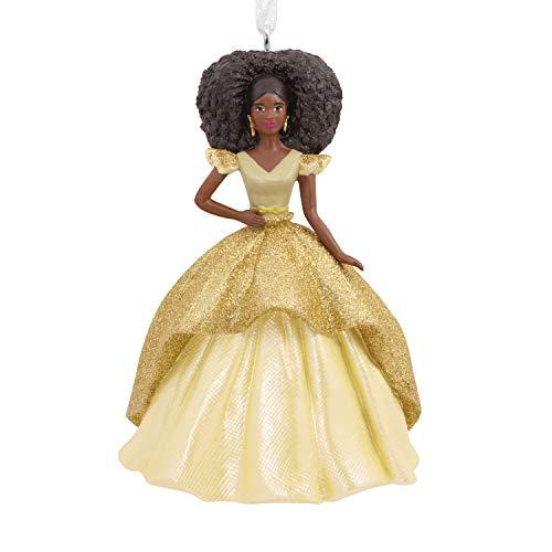 Hallmark Christmas Ornament 2020, Mattel African-American Holiday Barbie