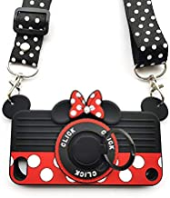 iPod Touch 7 Case iPod Touch 6 Case iPod Touch 5 Case 3D Cute Soft Silicone Cartoon Minnie Mouse Camera Design Phone Case for Women/Girl/Friends Classmate Best Birthday Gift (4in)