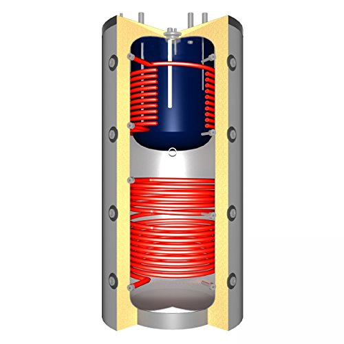 Schindler + Hofmann Speichertechnik J00049 Pufferspeicher 600 L mit Brauchwasser + 2x Solarwärmetauscher/C