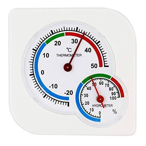 Sylvialuca Thermometer Mini Kwekerij Baby Huis Kamer Natte Hygrometer -20 ~ 50 Deg.C Temperatuur Meter Kunststof Weerstation