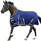Weatherbeeta Comfitec Lite Essential Standard Pferdedecke (75 cm) (Marineblau/Silber/Rot)