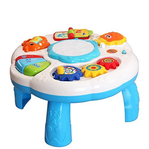 MUJING juguetes para bebés de 6 a 12 - 18 meses, educación musical, actividad de aprendizaje, centro de mesa, juguete para niños pequeños, niños y niñas de 1 2 3 años, regalos para niños y niñas (white)